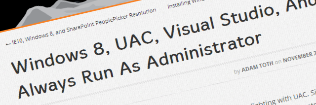 UAC and Windows 8
