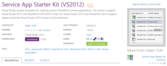 SharePoint Service Application Starter Kit