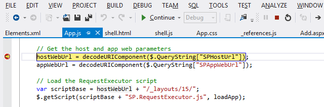 Debugging SharePoint App in IE