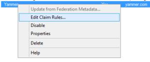 Edit Claim Rules