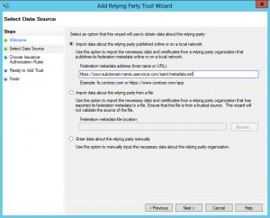 Setting the Metadata Url