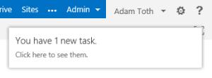 New Task Notification.