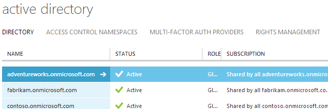 Add an existing Azure Active Directory to your subscription